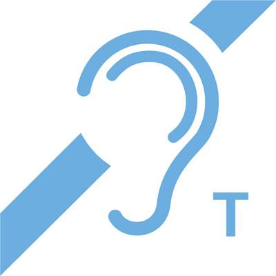 Fakta om hörslinga T-slinga nuvarande skylt